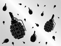 Grenade background Stock Photography