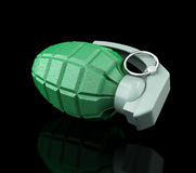 Grenade a black background Stock Images