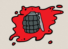 Grenade in Blood Royalty Free Stock Image