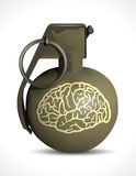 Grenade - Brain damage Royalty Free Stock Image