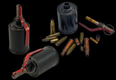 Grenade and bullet Royalty Free Stock Photos