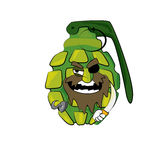 Grenade cartoon Royalty Free Stock Images
