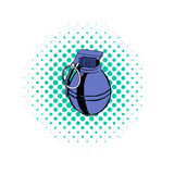 Grenade comics icon. On a white background Royalty Free Stock Photo