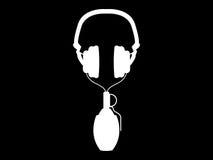 grenade d'écouteurs Photographie stock libre de droits