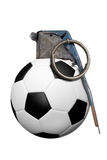 Grenade de bille de football Photo libre de droits