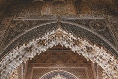 Grenade, Espagne - 5/6/18 : Palais de dynastie de Nasrid des lions, Alhambra image stock
