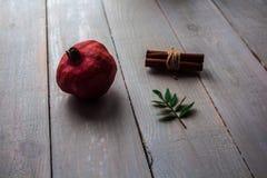 Grenade et cannelle photographie stock libre de droits