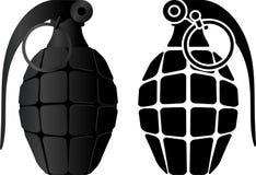 Grenade et pochoir de grenade Image libre de droits