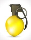 Grenade - explosion de citron Photographie stock libre de droits