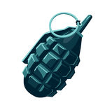 Grenade isolated on white. Vector grenade isolated on white vector military sign. Without gradients and transparency stock illustration