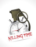Grenade - Killing time. Deadline concept Stock Images