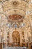 Grenade - la sacristie baroque dans l'église Monasterio de la Cartuja Photos libres de droits