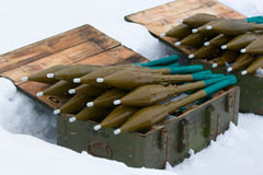 Grenade launcher ammunition Stock Image
