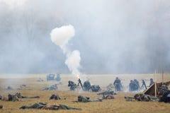 Grenade launcher shooting Stock Photos