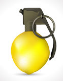 Grenade - Lemon explosion Royalty Free Stock Photography