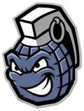 Grenade mascot Royalty Free Stock Images