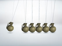 Grenade - Newtons cradle Stock Photos