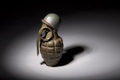 Grenade Soldier Royalty Free Stock Photo
