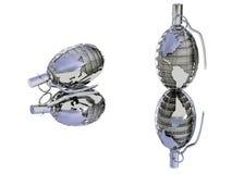 Grenade stylisée illustration libre de droits