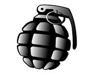 Grenade. Very danger ammunition for children Stock Photography