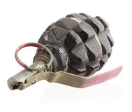 Grenade on white background Royalty Free Stock Photo