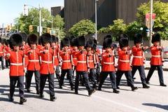 Канадские предохранители Grenadier на параде в Оттаве, Канаде Стоковые Фото