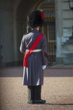 Grenadier guard wearing winter greatcoat Stock Photo