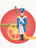 Grenadier und Kanone Stockfoto