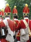 Grenadiers die aan Slag marcheren Royalty-vrije Stock Foto's