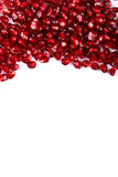Grenadine seeds on the upper side Royalty Free Stock Images