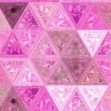 Grenadine stained glass triangles mosaic. Grenadine stained glass triangles pattern stock photos