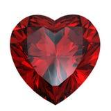 Grenat en forme de coeur rouge Images stock