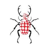 Grenat sous forme de scarabée Photographie stock