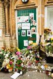 The Grenfell Tower Block Fire Disaster. Floral tributes and messages for the victims of the Grenfell Tower fire disaster, London, UK, which left hundreds stock photos