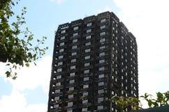 Grenfell tower block Kensington London. Grenfell tower block fire Kensington London stock images