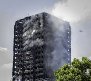 The Grenfell Tower Block Fire Stock Photography