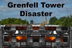 Grenfell tower fire Stock Images