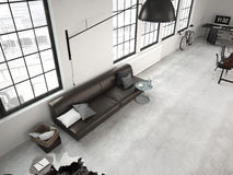 Grenier industriel moderne rendu 3d Image stock