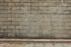 Grenite-Blockwand und -boden Lizenzfreies Stockbild