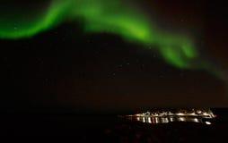 Grenlandzcy północni światła Obrazy Royalty Free