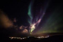 Grenlandzcy północni światła Zdjęcia Royalty Free