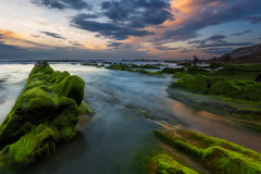 Grenn coast. After the sunset Stock Photo