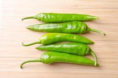 Grenn hot pepper Royalty Free Stock Photos