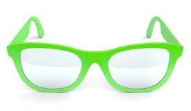 Grenn spectacles on white Stock Photos