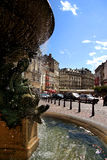 Grenoble. Front of classic fountain in grenoble  of france Royalty Free Stock Photography
