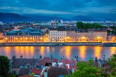 City of Grenoble, France.. Royalty Free Stock Image