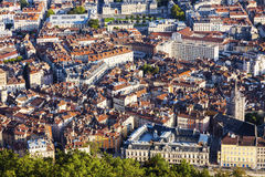 Grenoble - aerial panorama of the city Stock Photo