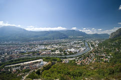 Grenoble aerial view Stock Photos