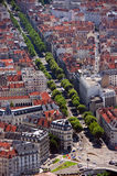 Grenoble aerial view. Aerial view of Grenoble, France Stock Photos