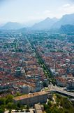 Grenoble aerial view elevated view stock image